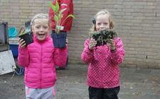 Aanleg vierkante-meter-tuin Basisschool de Kasteeltuin Roermond